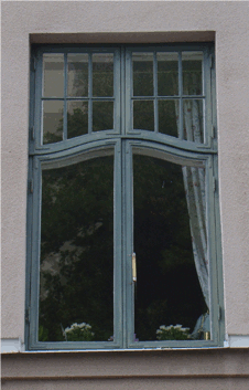 Real visualisation of a rectangular window