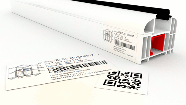 Production labels with QR code