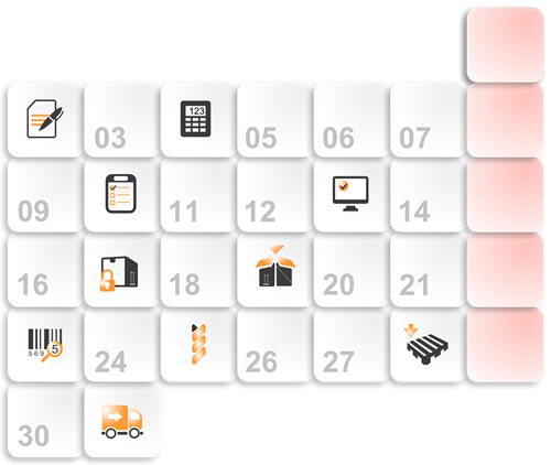Calendar page from planner module
