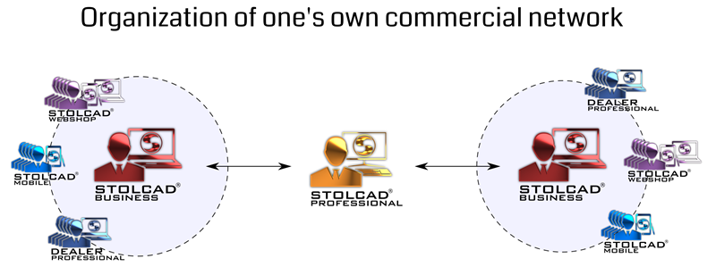 Organization of big commercial network