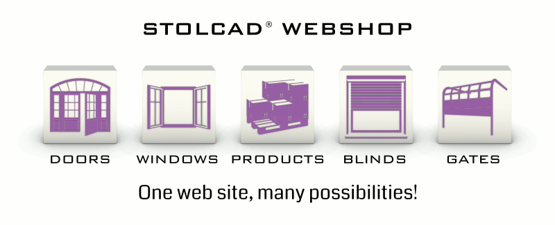 Doors, windows and roller blinds in Stolcad Webshop